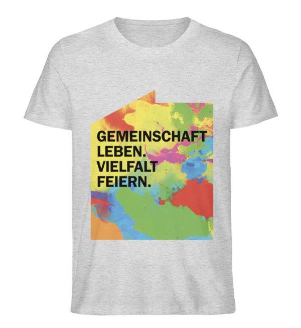 T-Shirt – Gemeinschaft leben. - Herren Premium Organic Shirt-6892