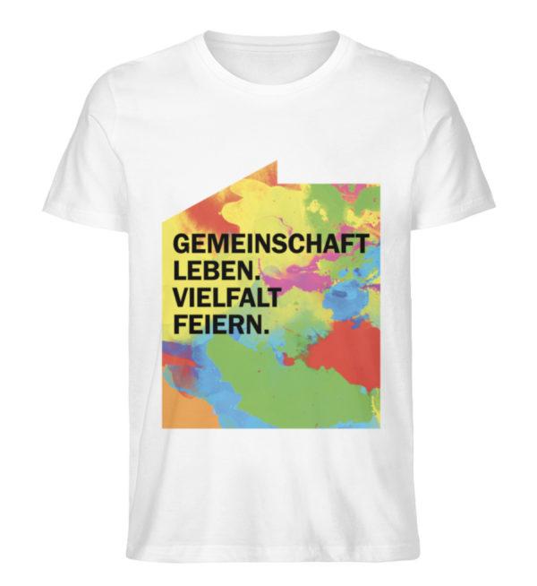 T-Shirt – Gemeinschaft leben. - Herren Premium Organic Shirt-3